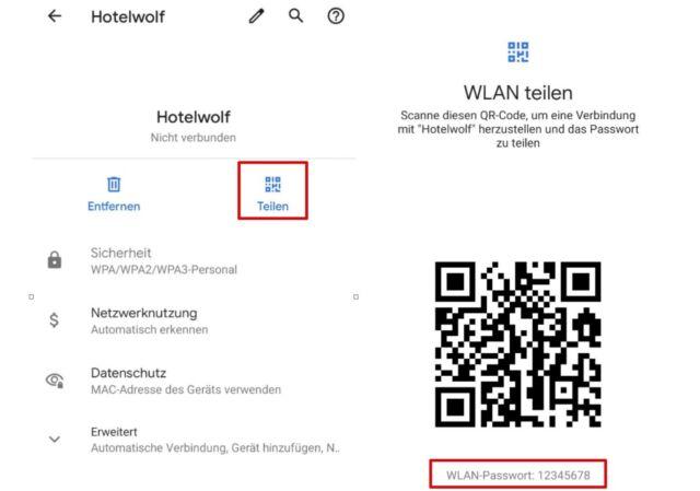 Android WLAN Passwort anzeigen