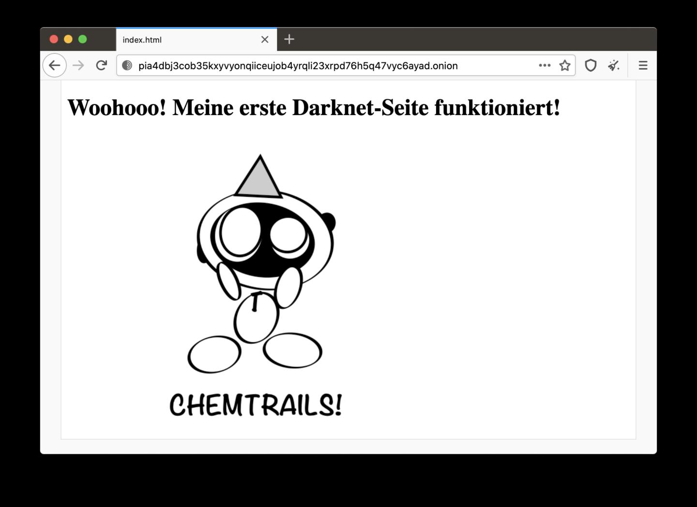 Die eigene Darknet-Seite läuft!