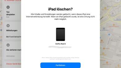 iPad aus der Ferne löschen