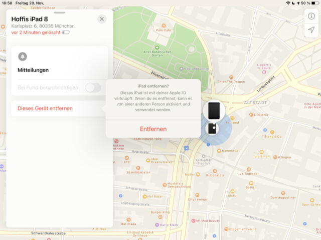 iPhone iPad aus Konto entfernen