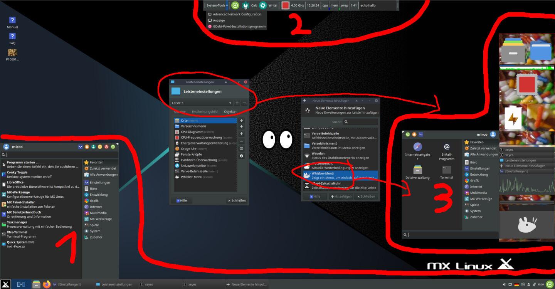 mx linux screenshot