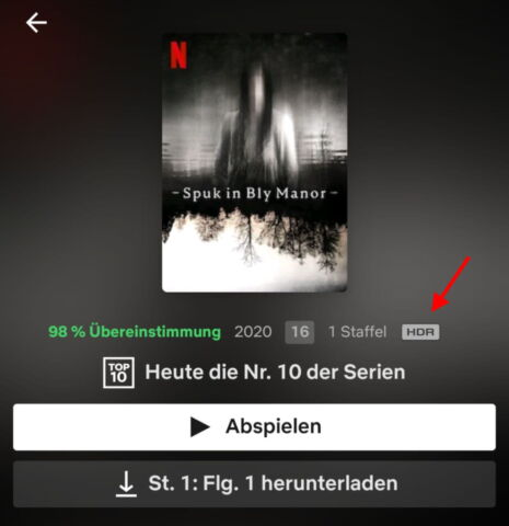 netflix android HDR