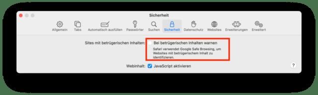 Google Safe Browsing ist der Übeltäter.