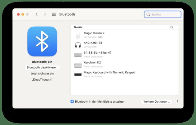 Ihr solltet so wenige Geräte wie möglich per Bluetooth verwenden.