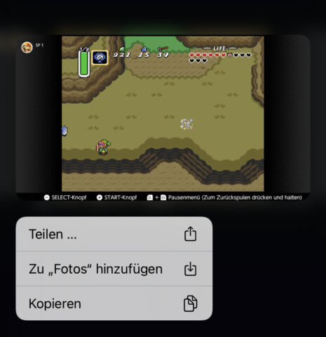 Fotos von Switch auf iPhone