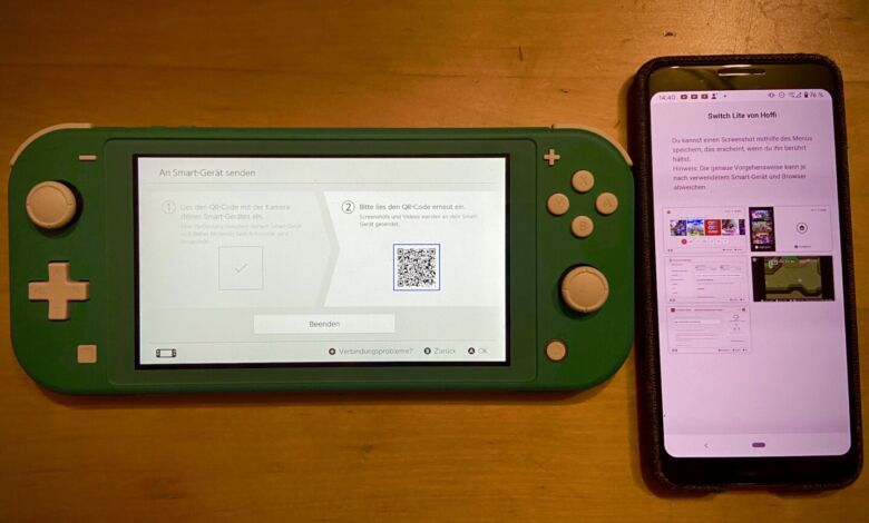 Switch Screenshots ans Handy senden