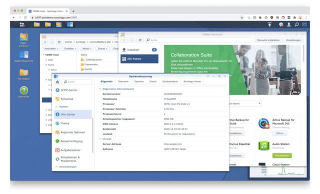 Synology DSM Browser-Demo