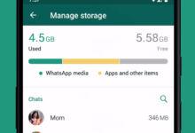 WhatsApp Speicher Management