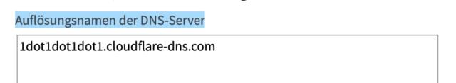 Pro Server eine Zeile.
