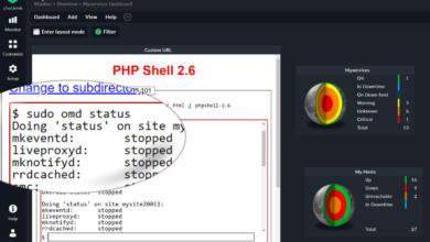 checkmk mit php shell screenshots