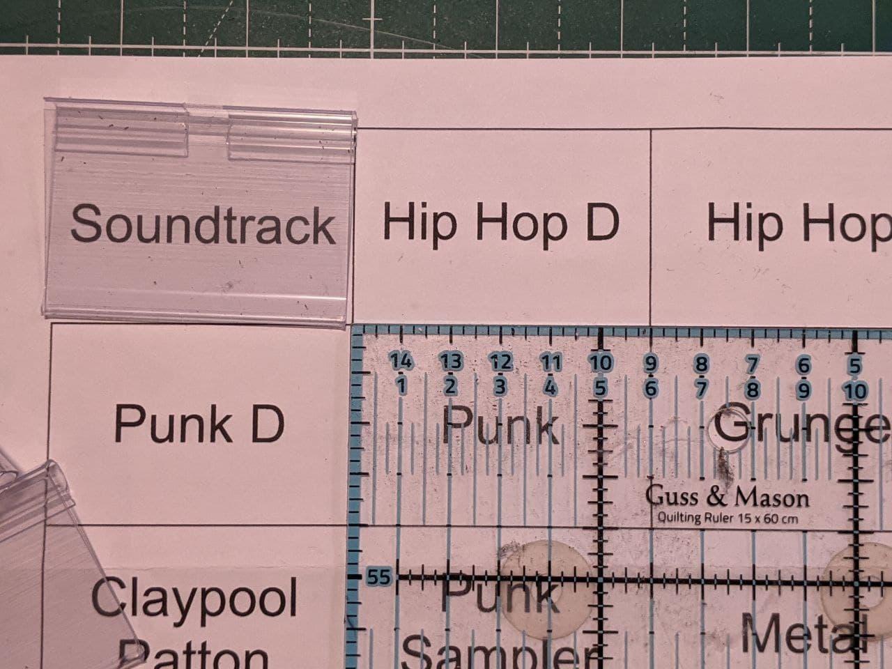 etiketten screenshots