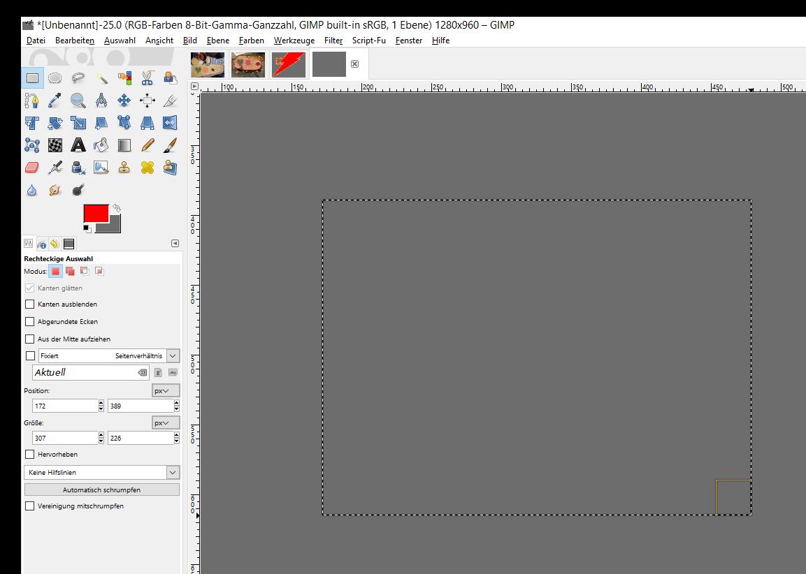 gimp formen zeichnen screenshot