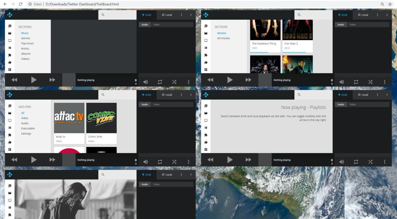 5 x Kodi-Web-GUI