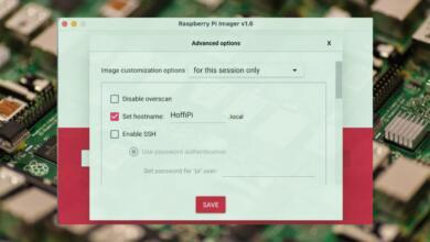 Raspberry Pi Imager Advanced Options
