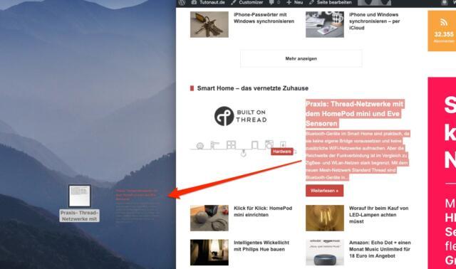 macOS TextClipping erstellen