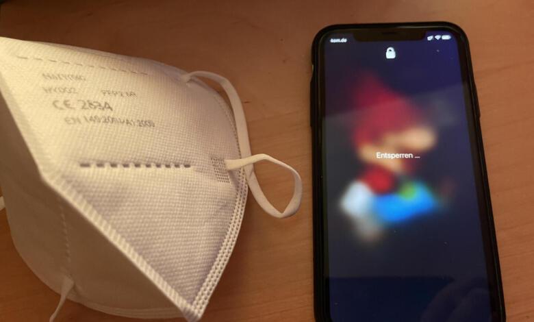 iPhone mit Maske entsperren