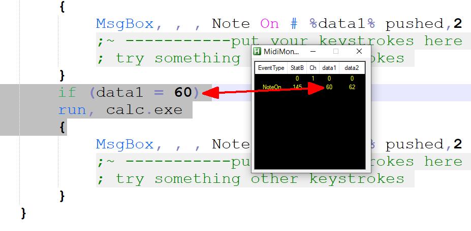 MIDI-Key öffnet calc.exe