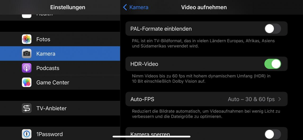 Dolby Vision aktivieren iPhone 12