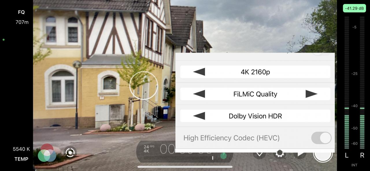 Filmic Pro Dolby Vision