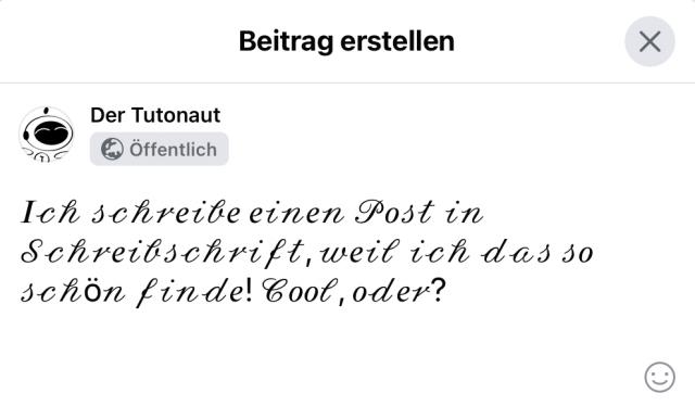 Ein Facebook-Post in anderer Schrift? Kein Problem dank Unicode!