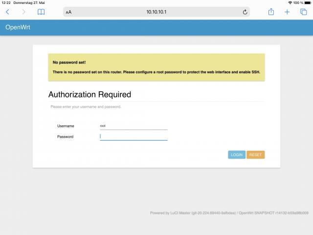 Fertig: Ihr müsst nur noch ein Root-Passwort vergeben.