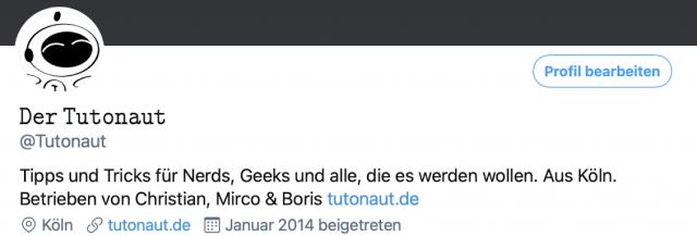 Der Twitter-Username kann mit wenigen Handgriffen mit einer anderen Schrift versehen werden.