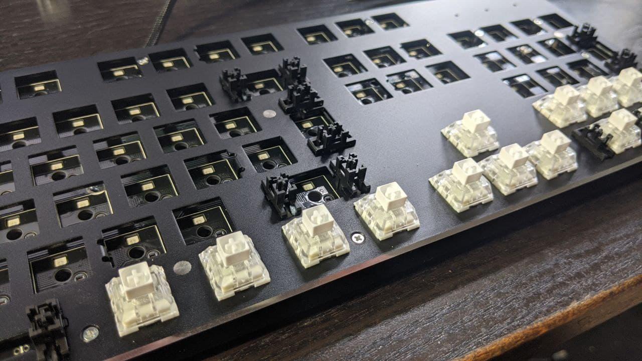 mechanische tastatur foto vom schaltertausch