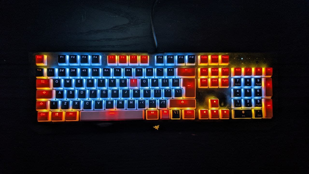 Keycaps in aktion