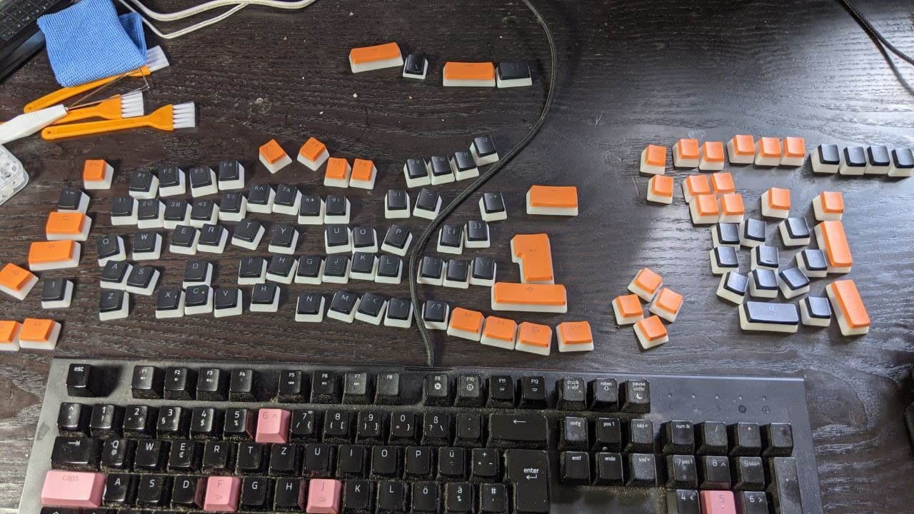 Keycaps sortiert