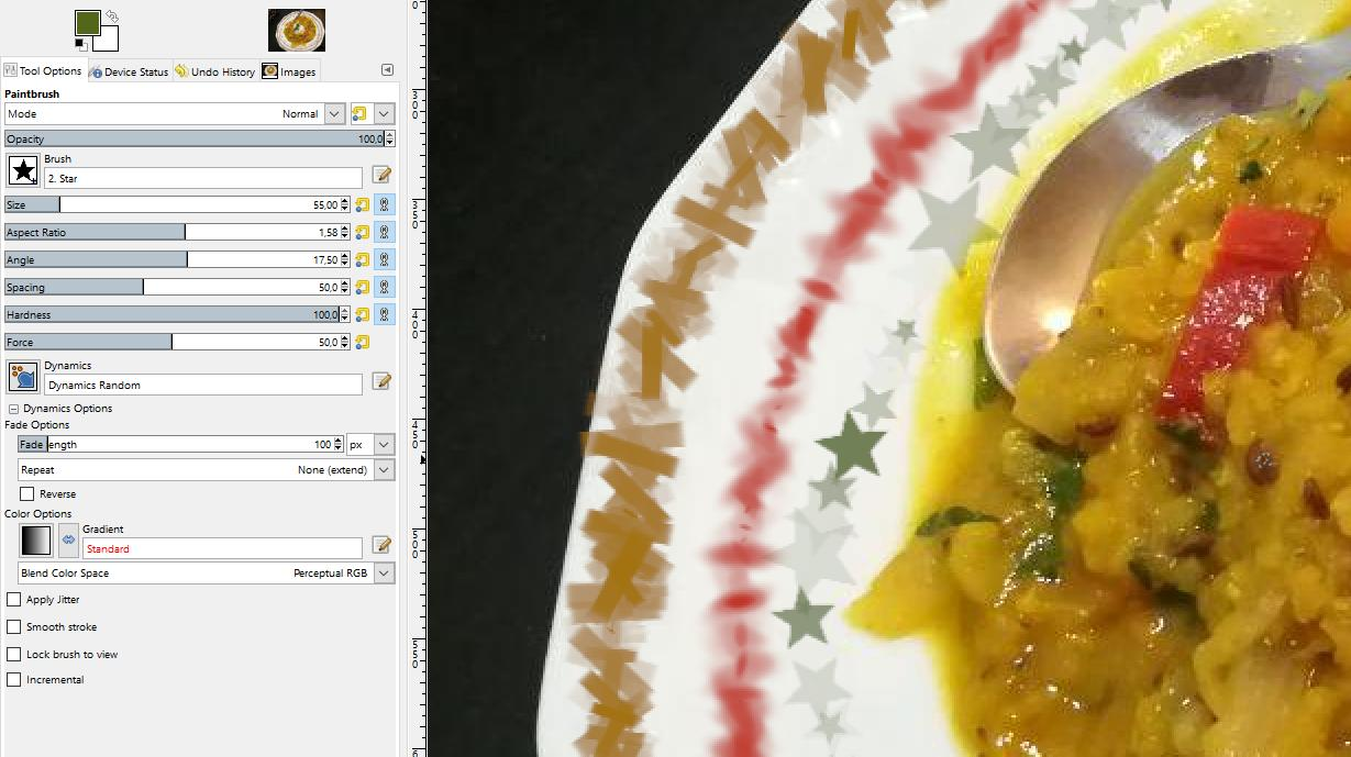 screenshot von dynamischen pinselspitzenstrichen