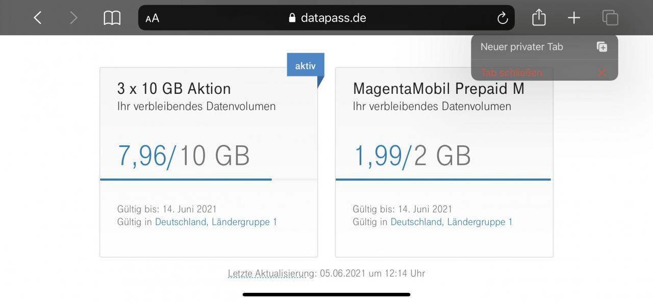 Datapass Abfrage Telekom