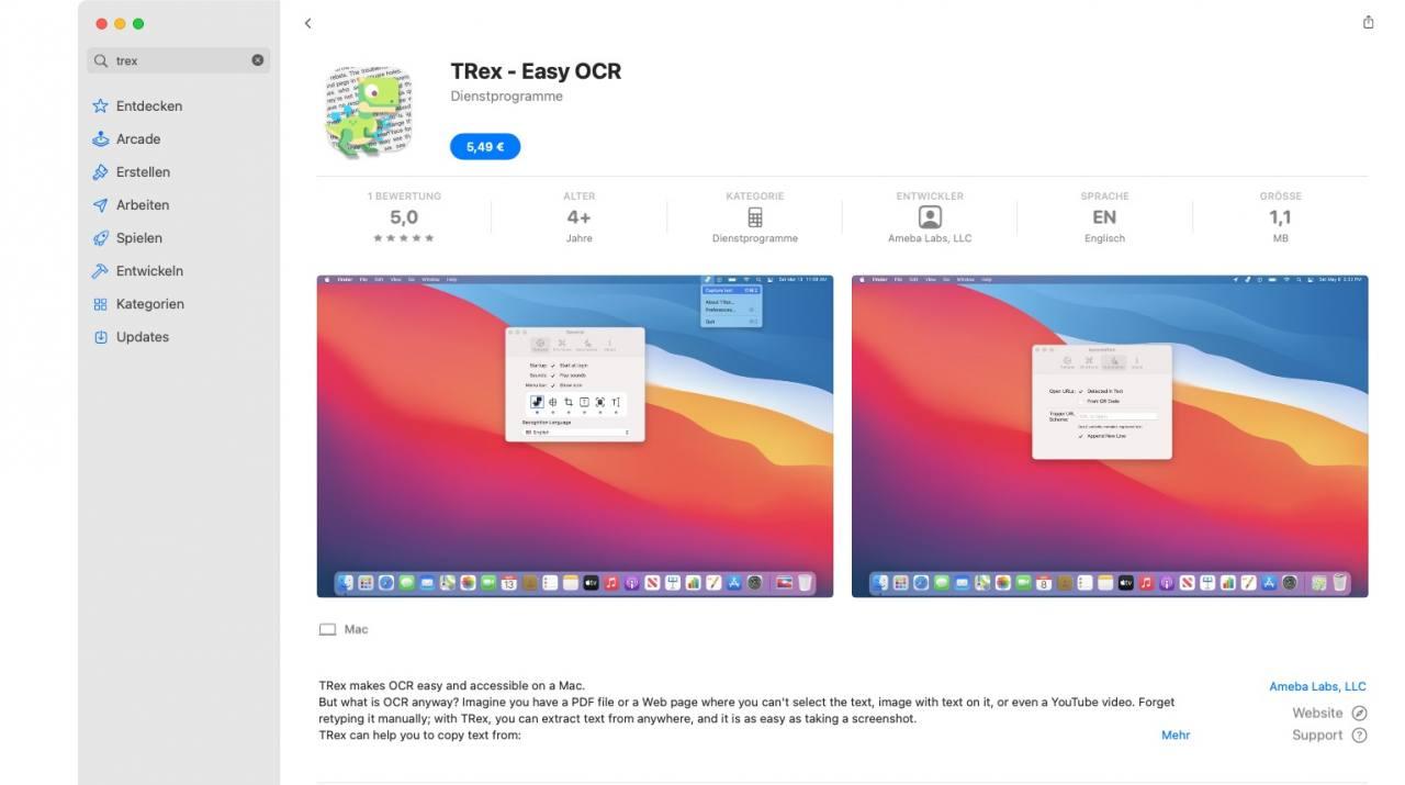 Trex OCR App Store