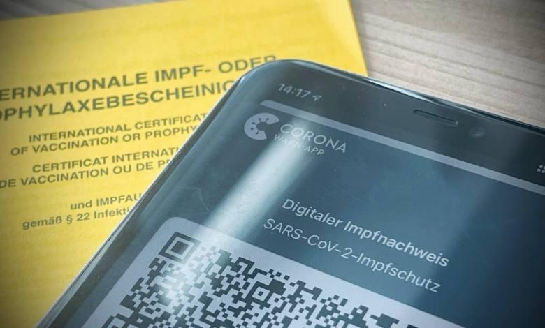 Smartphone Impfnachweis App