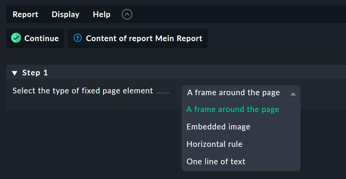 screenshot vom erstellen von seitenelementen.