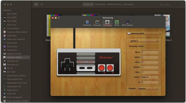 OpenEmu unterstützt die meisten USB-Gamepads und Joysticks.