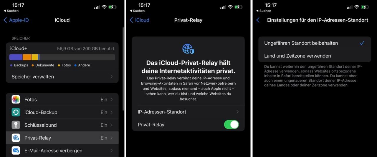 iPhone 15 Privat Relay aktivieren