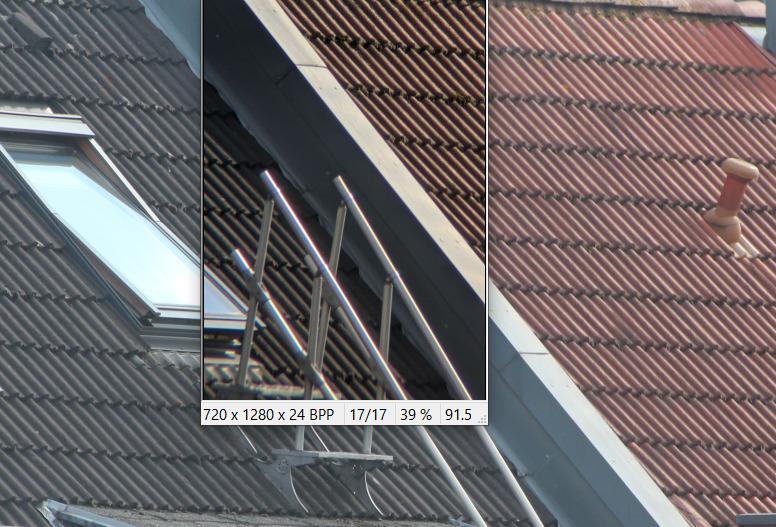 dslr- und monokular-fotos im vergleich.