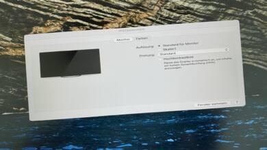 Ärgerlich: Fehldarstellung auf externen Monitoren, wenn diese am M1-Mac hängen.