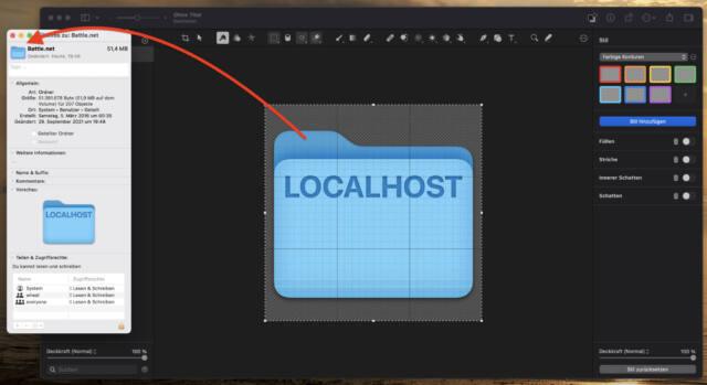 Zackfertig: Per Copy & Paste packt Ihr Euer eigenes Icon auf den Ordner oder die App.