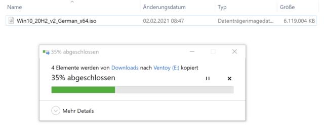 ISO-Dateien kopieren, fertig!