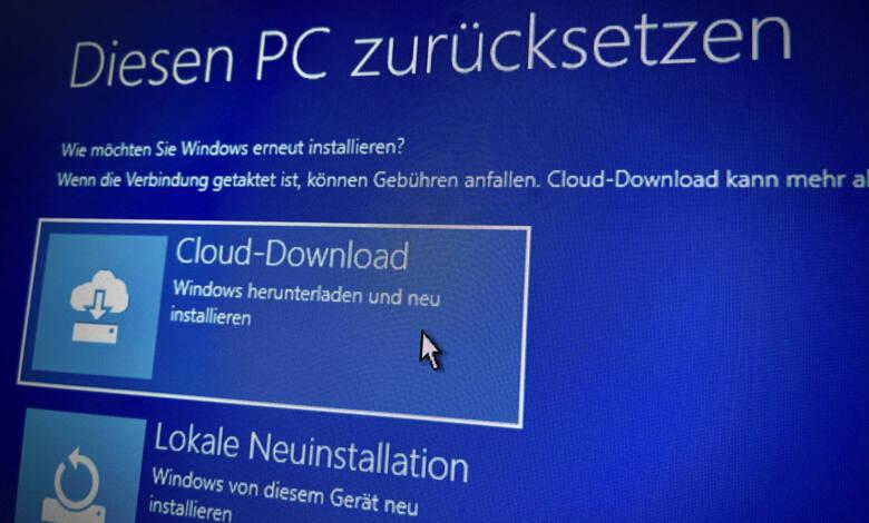 Windows 10 Neuinstallation Cloud