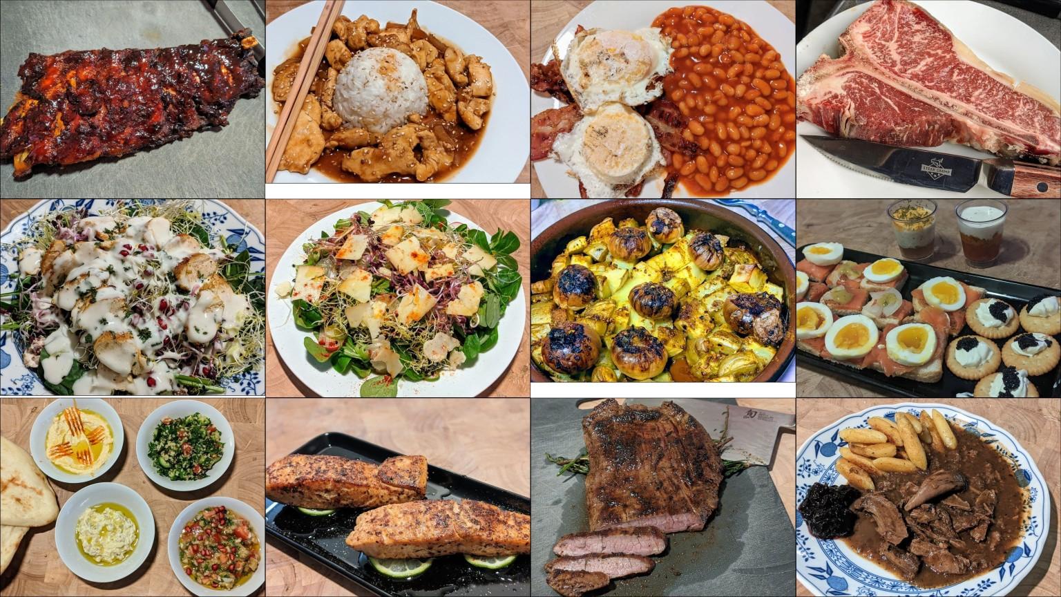collage aus food-porn-bildern.