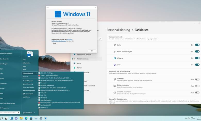 Windows 11 klassisches Startmenü