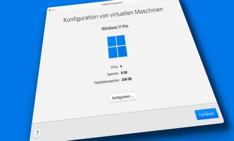 Mit Parallels ist die Windows-Installation ein Kinderspiel.