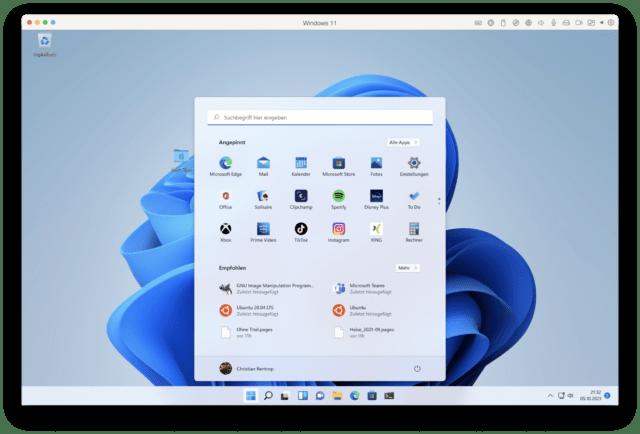 Et voilá: Windows 11 auf dem Mac!